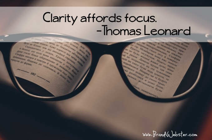 Motivation Monday: Clarity