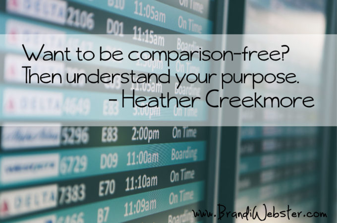 Motivation Monday: Purpose Eliminates Comparison